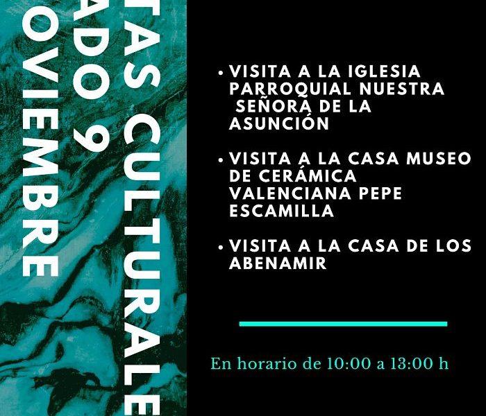 cartel visitas culturales benaguasil camp de túria