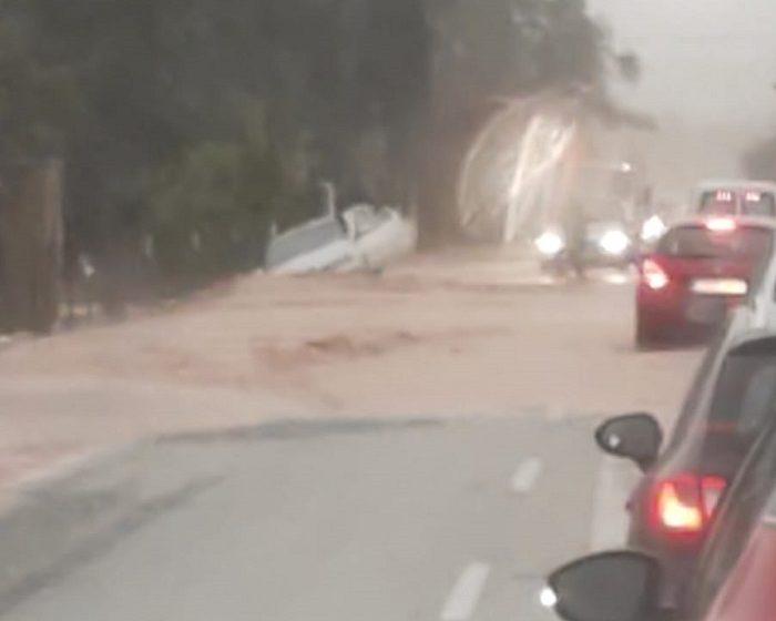 temporal carretera de serra