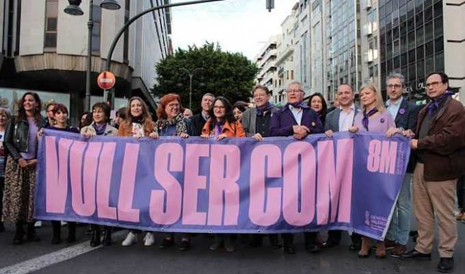 manifestacion dia de la dona