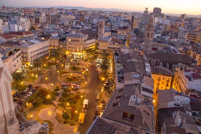 Vista de Valencia desde el aire