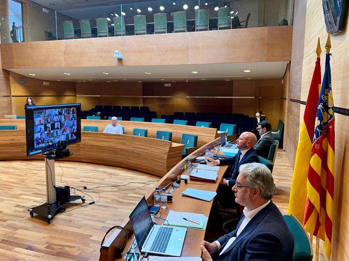 pleno Diputación videoconferencia