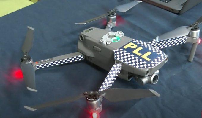 dron policia local
