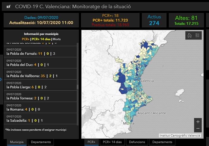 datos coronavirus la pobla