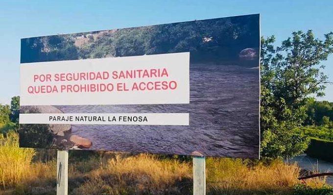 prohibicion baño rio túria
