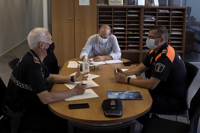 reunión policía local y protección civil de Bétera