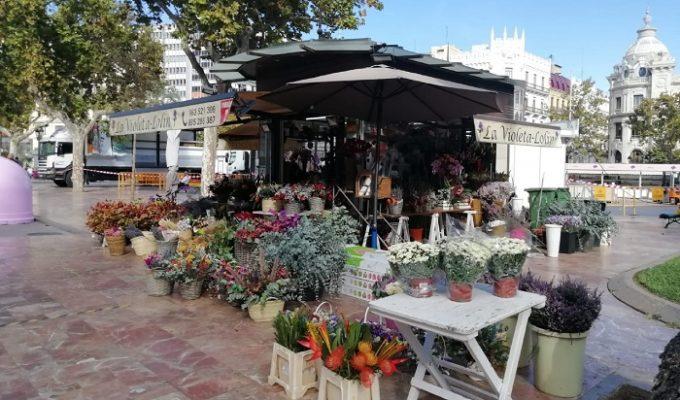 puestos flores valencia