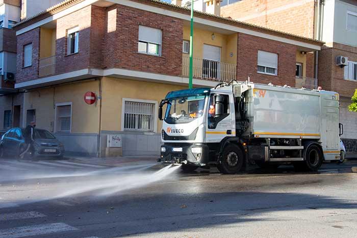 Desinfecció carrers la Pobla de Vallbona COVID19 coronavirus