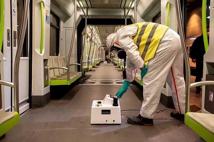 desinfección metro