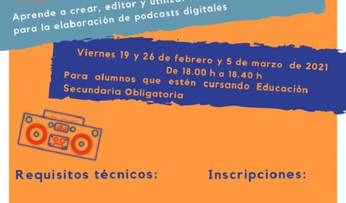 Taller de podcast y radio San Antonio de Benageber