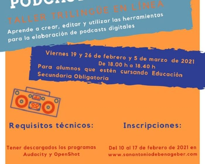 Taller de podcast y radio San Antonio de Benageber
