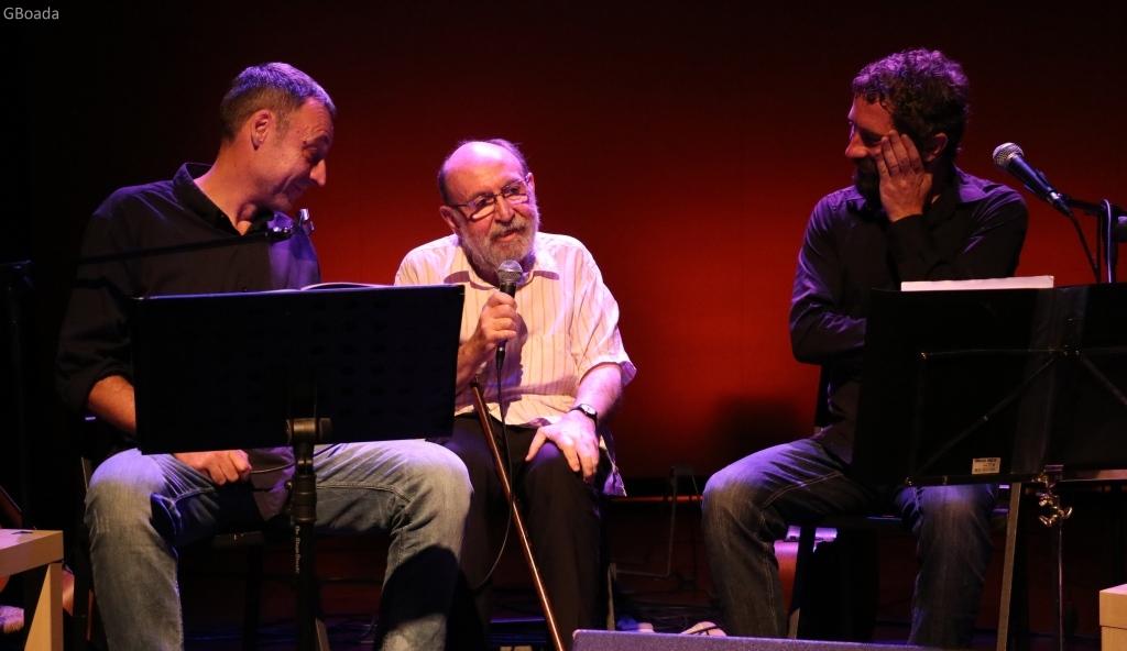 Marc Granel amb Borja Penalba i Francesc Anyó en l'espectacle 'Granell.