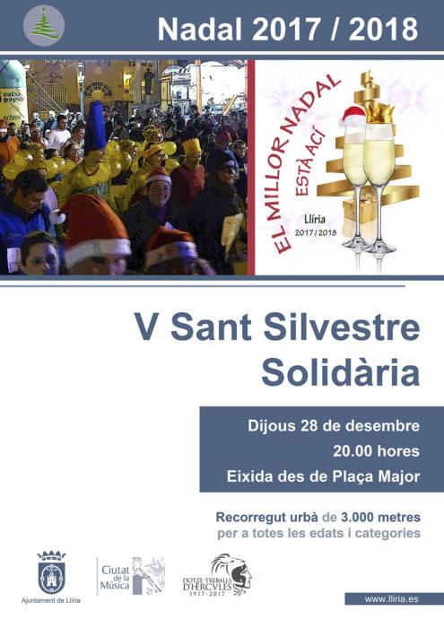 Ll ria celebra el jueves 28 su v san silvestre solidaria for Piscina municipal lliria